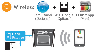 how to connect hiti p310 w to wifi