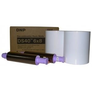 6x8 Media Print Kit for DNP DS40 Printers, DNP Paper & Ink Ribbon 6x8 x200 x 2 sets (400 prints) New Generation [DS40 6X8]
