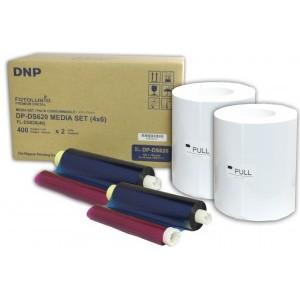 4x6 Media Print Kit for DNP DS620A Printers, DNP Paper & Ink Ribbon 4x6 x400 x 2 sets (800 prints) [DS6204X6]