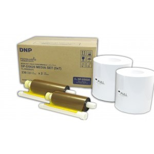 5x7 Media Print Kit for DNP DS620A Printers, DNP Paper & Ink Ribbon 5x7 x230 x 2 sets (Total 460 prints) [DS6205X7]