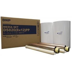 8x12 Media Print Kit for DNP DS820A Printers, DNP Paper & Ink Ribbon 8x12 x110 x 2 sets (220 prints) [DS820A 8X12]