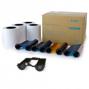 "HiTi 4x6"" Paper & Ribbon 4x6x330X4 sets (1320 Prints)  for HiTi 510K, 510S and 510L Printers  [87.PBX26.10XV]"