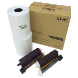 "4X6 Media Print Kit for HiTi 520L and 525L Printers, HiTi 4x6"" Paper & Ribbon 4x6x500 2 sets (1000 Prints)"