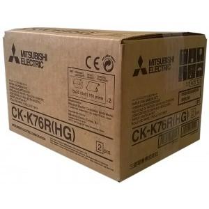 4x6/6x8 Print Kits for Mitsubishi K60 Printers, Mitsubishi High Grade Paper & Ink Ribbon 4x6 Media x320 x 2 sets (640 4x6 prints) [CK-K76R-HG]