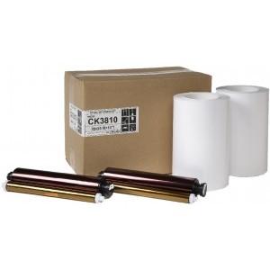 8x10 Media Print Kit for Mitsubishi 3810 Printers, Mitsubishi Paper & Ink Ribbon 8x10 x130 Prints x 2 sets (260 prints) [CK-3810]