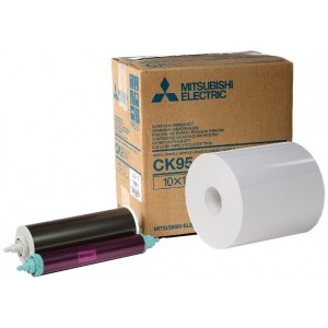 6x9 Media Print Kits for Mitsubishi 9000U, 9500U, 9550U and 9800U Printers, Mitsubishi Roll Paper & Ink Ribbon 6x9 X270 Prints (for U printers only) [CK-956R]