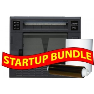 Mitsubishi CP-D90-DW digital color printer with 3 Years Parts & Labor Warranty STARTUP BUNDLE: Mitsubishi CP-D90  + One 4x6 Kit