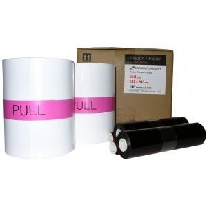 5x7 Media Print Kit for Sinfonia CS2 Printers, Sinfonia Paper & Ink Ribbon for CS2 Printer 5x7 x170 x 2 sets