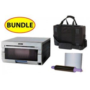 "DNP DS-40 6"" Digital Photo Printer CASE & MEDIA  BUNDLE: DNP DS-40 Printer + One 4x6 Print Kit + Soft Carry Case (Does not include 5x7 Spacer)"