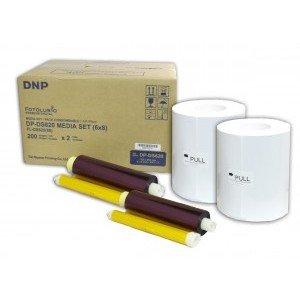 6x8 Media Print Kit for DNP DS620A Printers, DNP Paper & Ink Ribbon 6x8 x200 x 2 sets (400 prints) [DS6206X8]