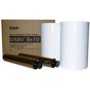 8x10 Media Print Kit for DNP DS80 Printers, DNP Paper & Ink Ribbon 8x10 x130 x 2 sets (260 prints) [DS80 8X10]