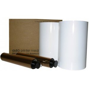 8x12 Media Print Kit for DNP DS80 Printers, DNP Paper & Ink Ribbon 8x12 x110 x 2 sets (220 prints) [DS80 8X12]