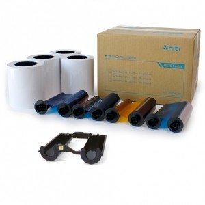 5x7 Media Print Kit for HiTi 510K, 510S and 510L Printers, HiTi Paper & Ribbon for P510 Series- 5x7x190 4 sets (760 Prints) [87.PCY02.10XV]