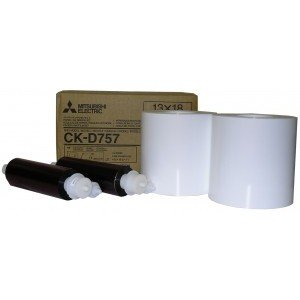 5x7 Media Print Kits for Mitsubishi D70, D707, D80 and D90 Printers, Mitsubishi Paper & Ink Ribbon 5x7 x230 x 2 sets (460 prints) [CK-D757]