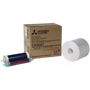 5x7 Media Print Kits for Mitsubishi 9000, 9500, 9550, 9800 and 9810 Printers, Mitsubishi Paper & Ink Ribbon 5x7 X350 Prints [CK-9057]