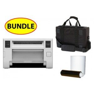 Mitsubishi CP-D70-DW digital color printer CASE & MEDIA BUNDLE: Mitsubishi D70  Printer w/ 3 Years Parts & Labor Warranty + One 4x6 Print Kit + Soft Carry Case