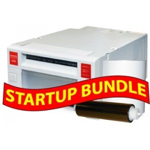Mitsubishi CP-k60-DW digital color printer STARTUP BUNDLE: Mitsubishi K60  Printer with 3 Years Parts & Labor Warranty + One Box of 4x6 Print Kit