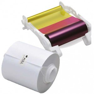 Mitsubishi Paper & Ink Ribbon 6x8 x 375, 6x8 Media Print Kit for Mitsubishi CP-M1A Printer [CK-M68S]