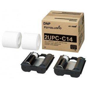 4x6 Media Print Kit for 10L SnapLab Printers, DNP / Fotolusio / Sony 2UPCC14 Color paper & ribbon 4X6 x 200 x 2 sets