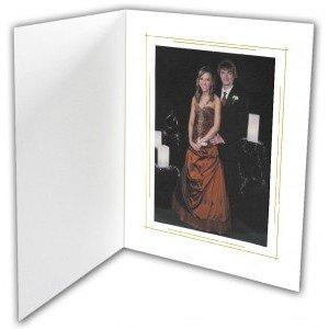 Folders 6X8 (100 per case) White & Gold